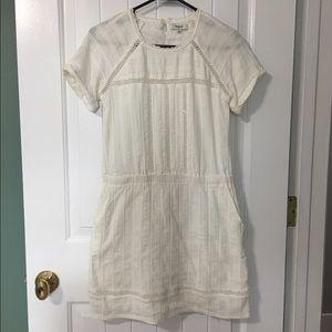Madewell White Short Sleeve Dress